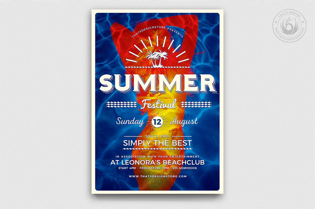Summer Fest Flyer Template