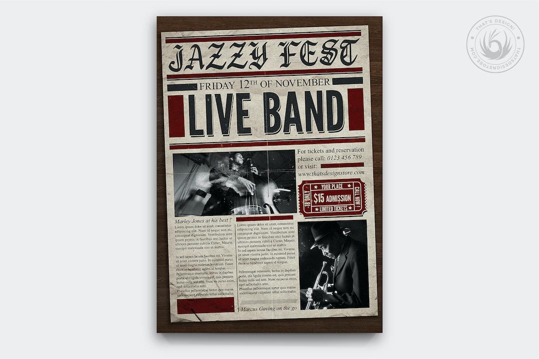 Live Concert Flyer Poster Template V5