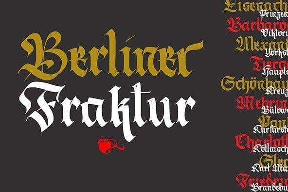 Oktoberfest fonts: