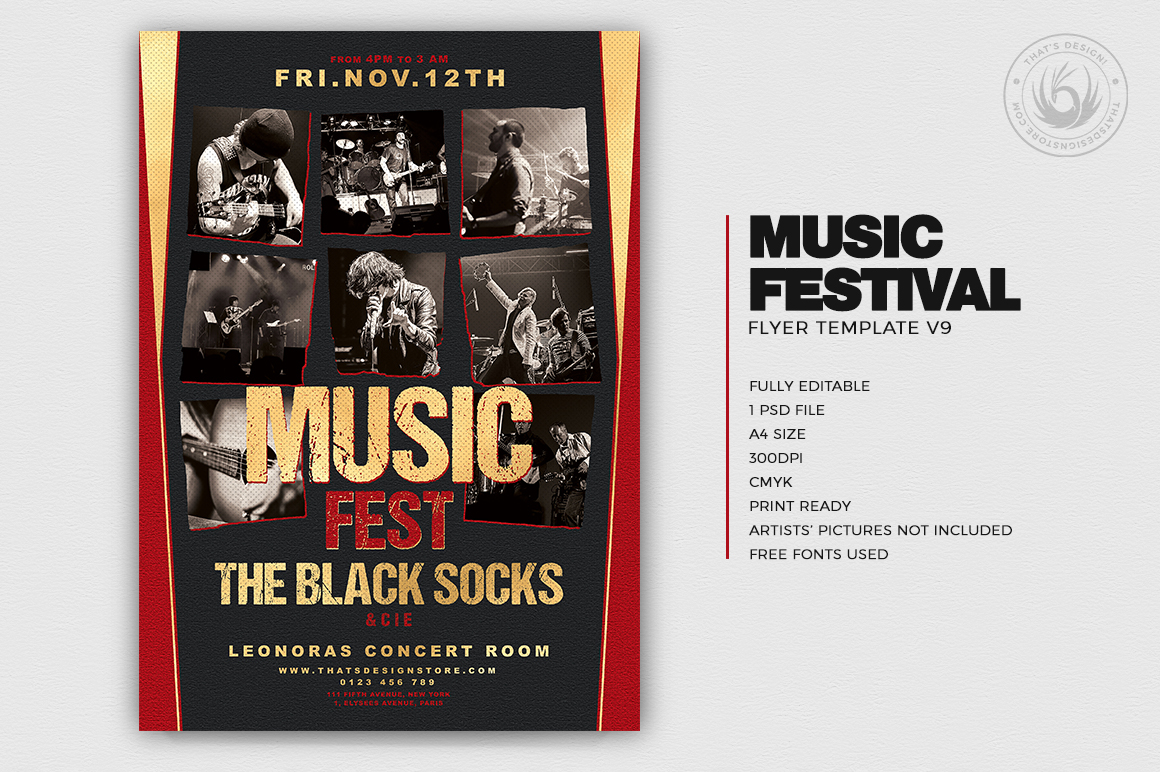 Music Festival Flyer Template Psd Download