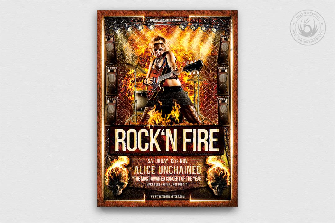 Rock'N Fire Flyer Template