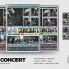 Live concert flyer template psd v10, band posters festival
