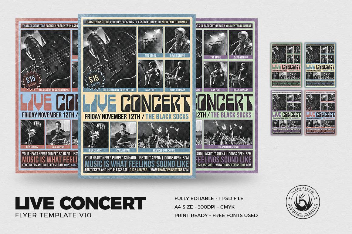 live concert flyer template v10 thats design store