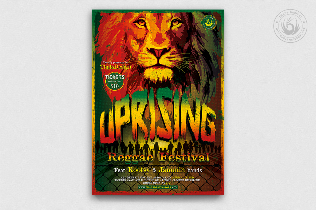 Reggae Uprising Flyer Template