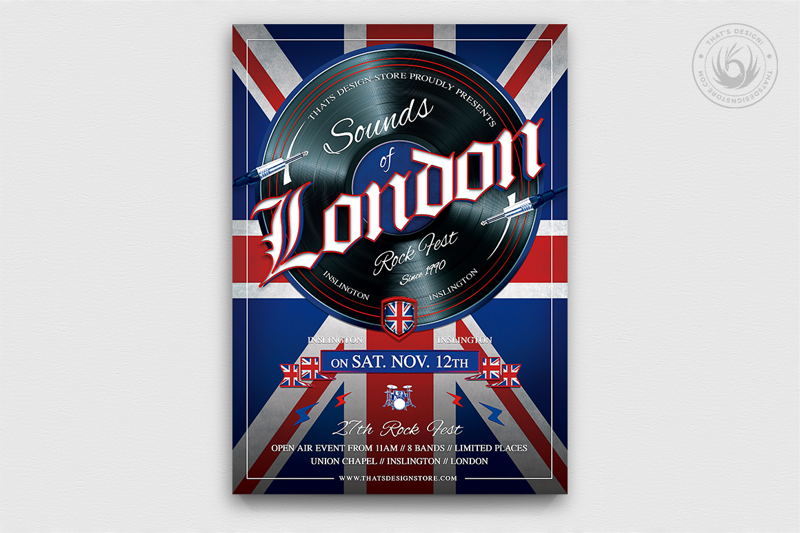 Sounds Of London Flyer Template