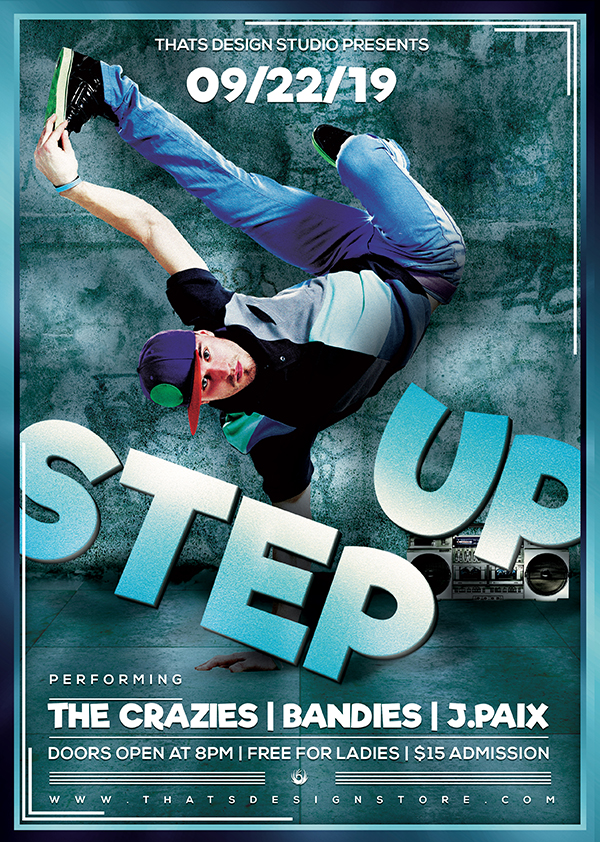 Step Up Hip Hop Free Psd Flyer Thats Design Store