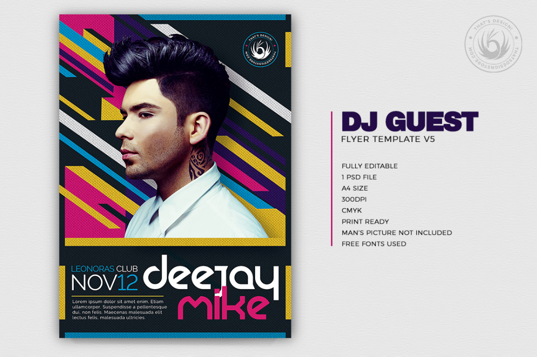 Dj Guest Event Flyer Template PSD for Photoshop