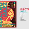 Electro Jazz Flyer Template PSD