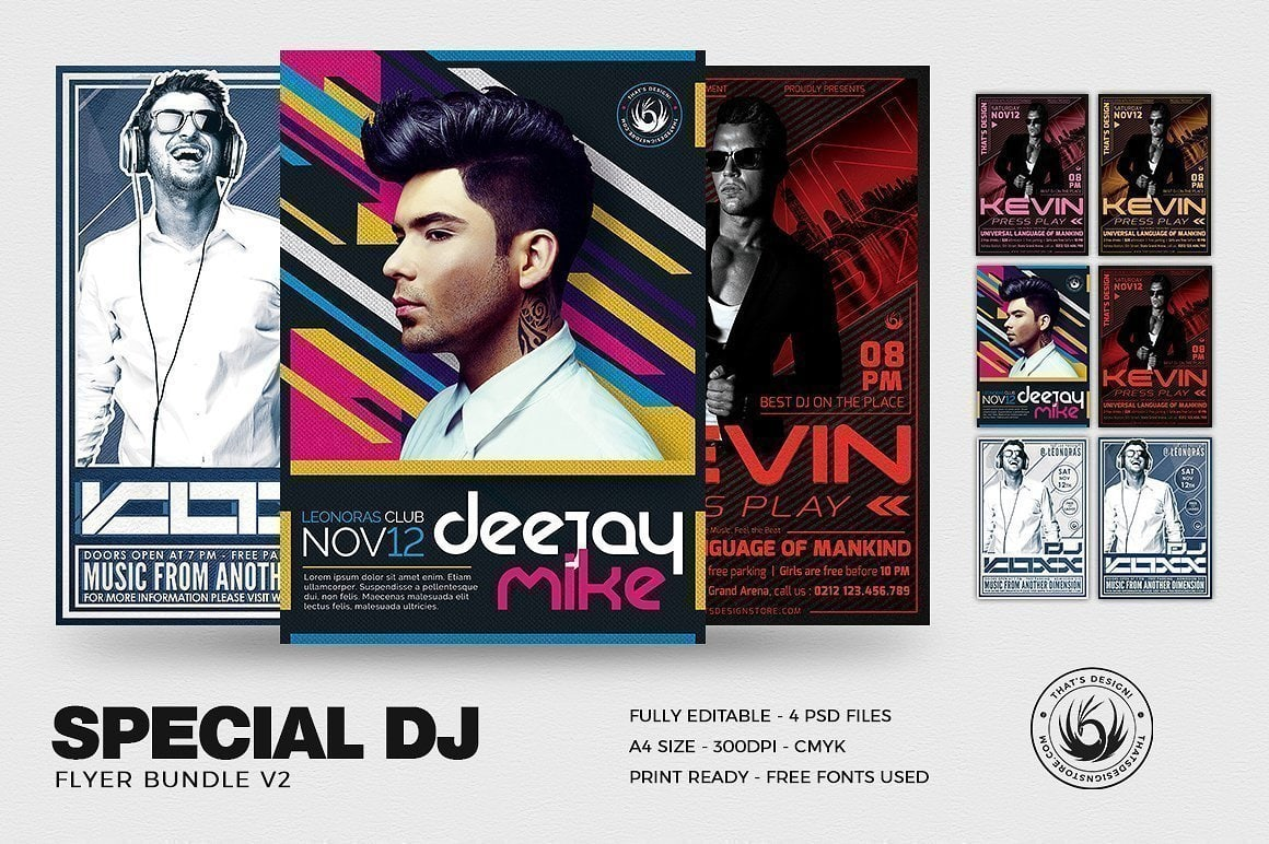 Special Dj Flyer Psd Templates To Download Printable And Editable