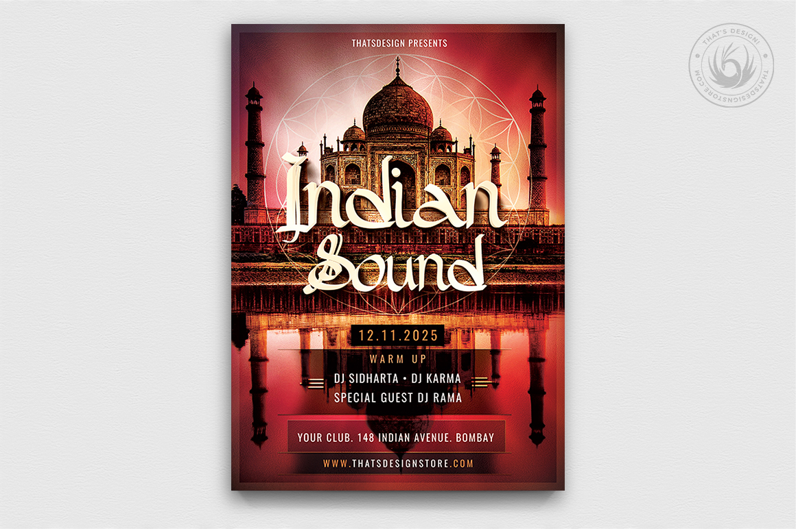 Indian Sound Flyer Template PSD download