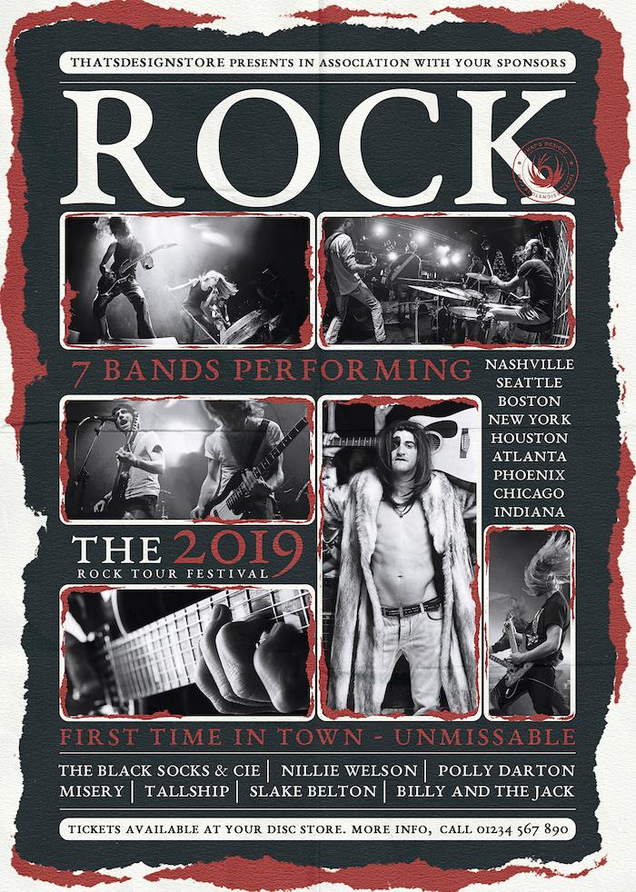 Download Live Concert Flyer Template psd V9