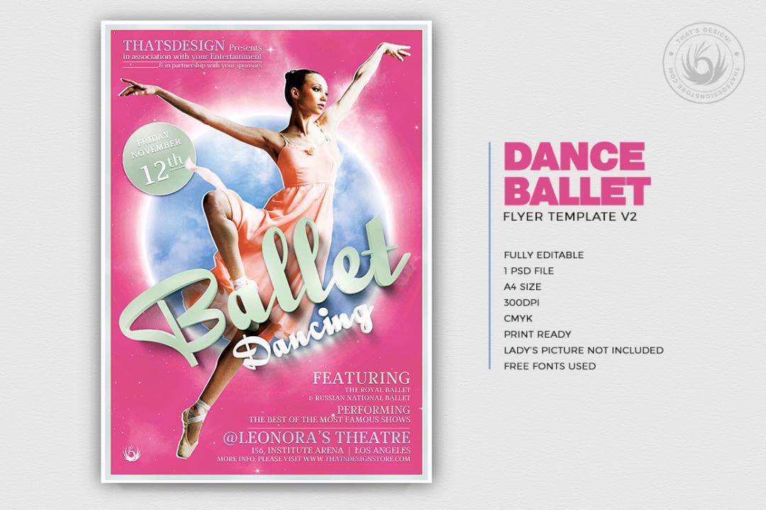 Download Dance Ballet Flyer Template Psd V2