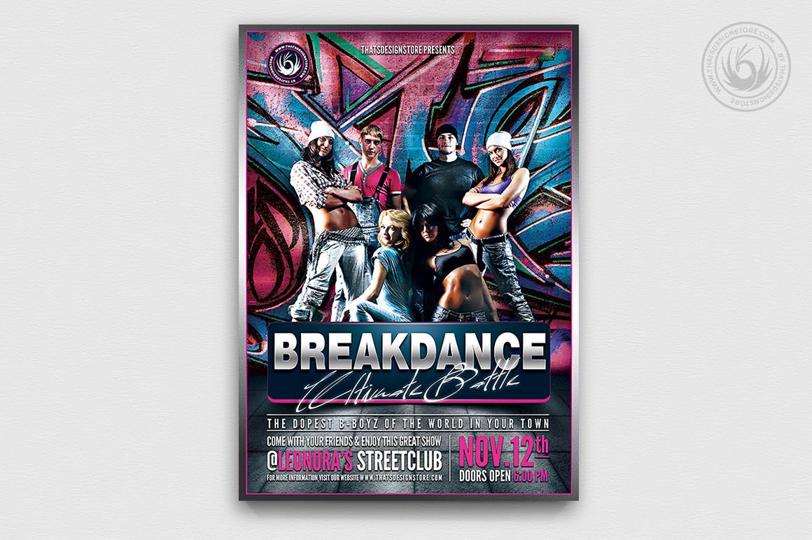 Breakdance Battle Flyer Template V3