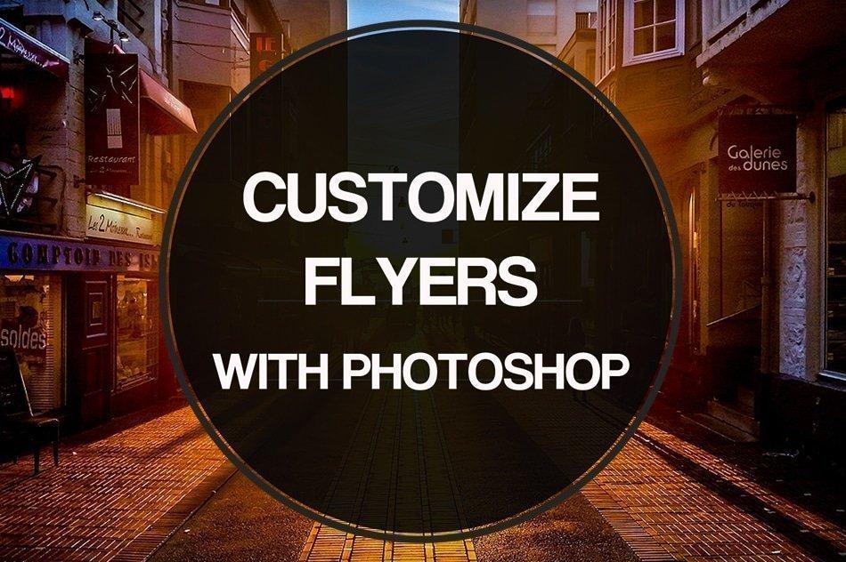 customize psd flyer templates