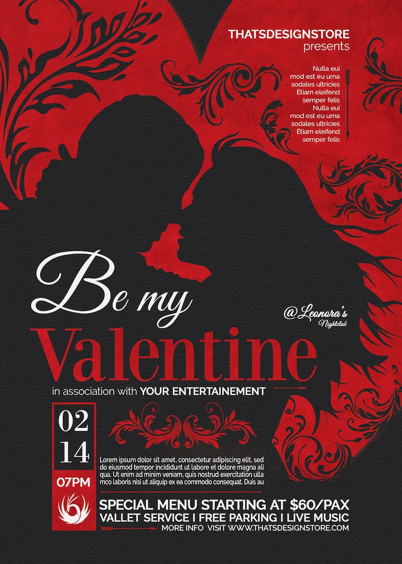 Valentine's Day Flyer Template V6