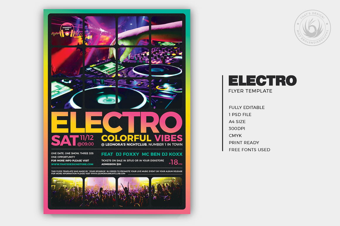 Electro Flyer Template V5