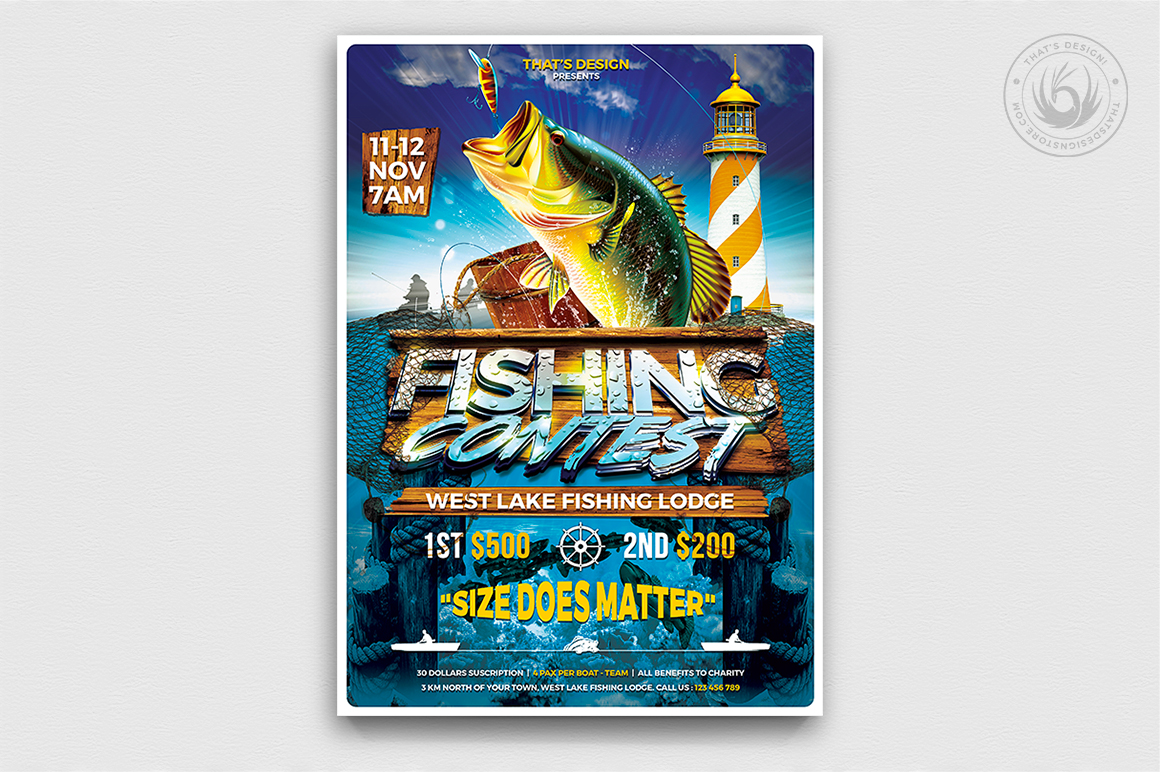 Fishing Contest Flyer Template Thats Design Store