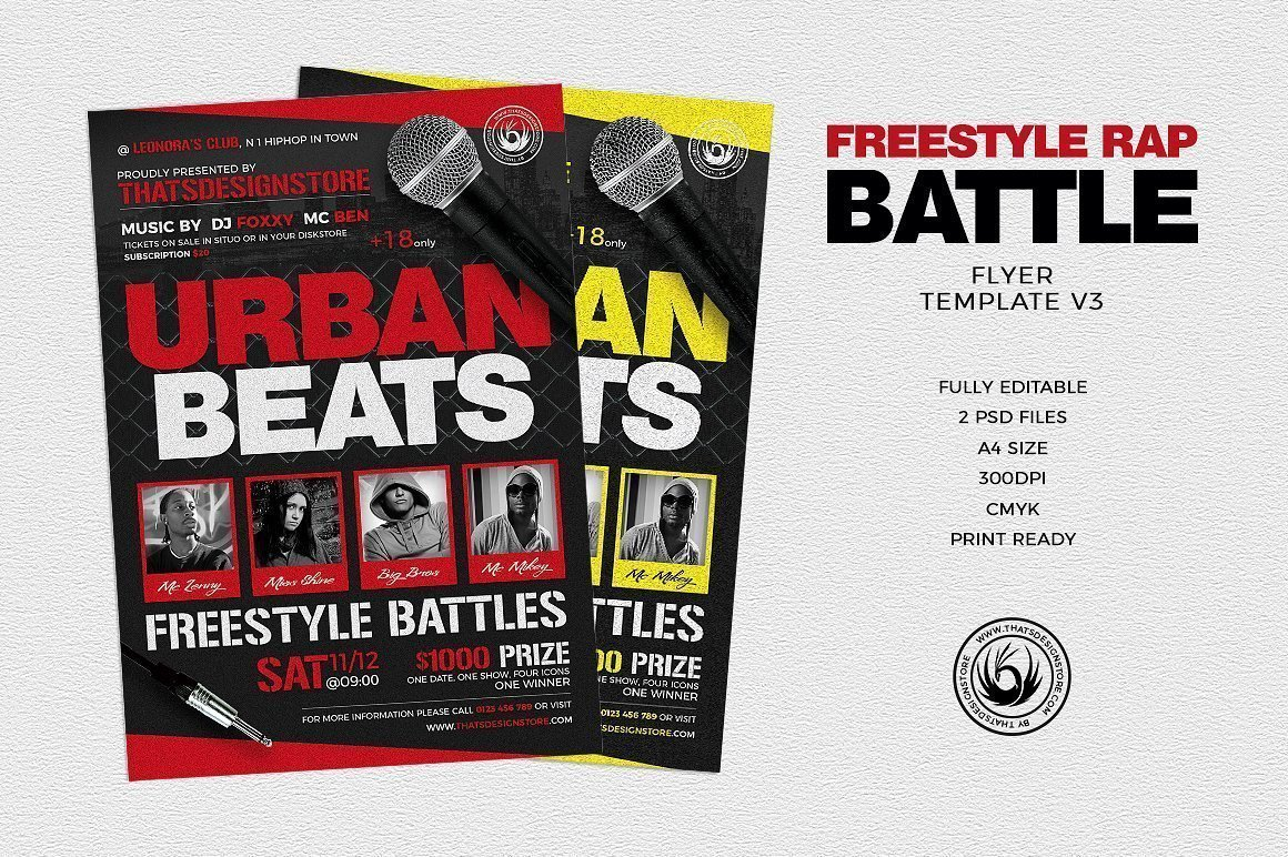 Freestyle Rap Battle Flyer V3