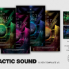 Electro Flyer Templates Design PSD For Photoshop, Galactic Sound Flyer Template PSD Download V2