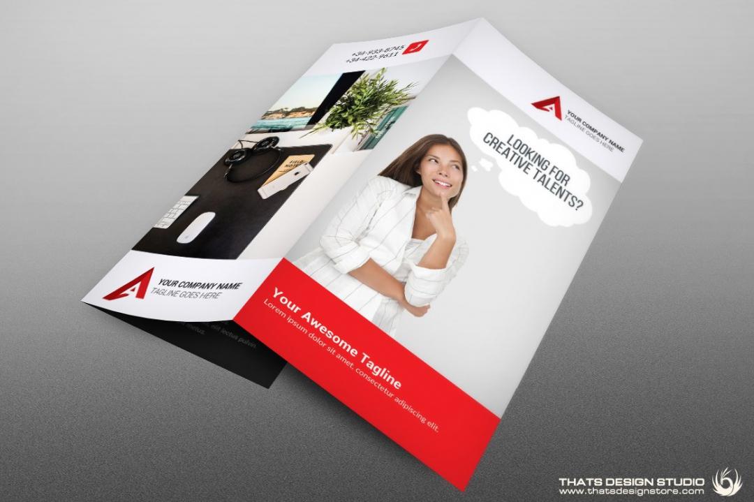 Trifold Creative Brochure Psd Template