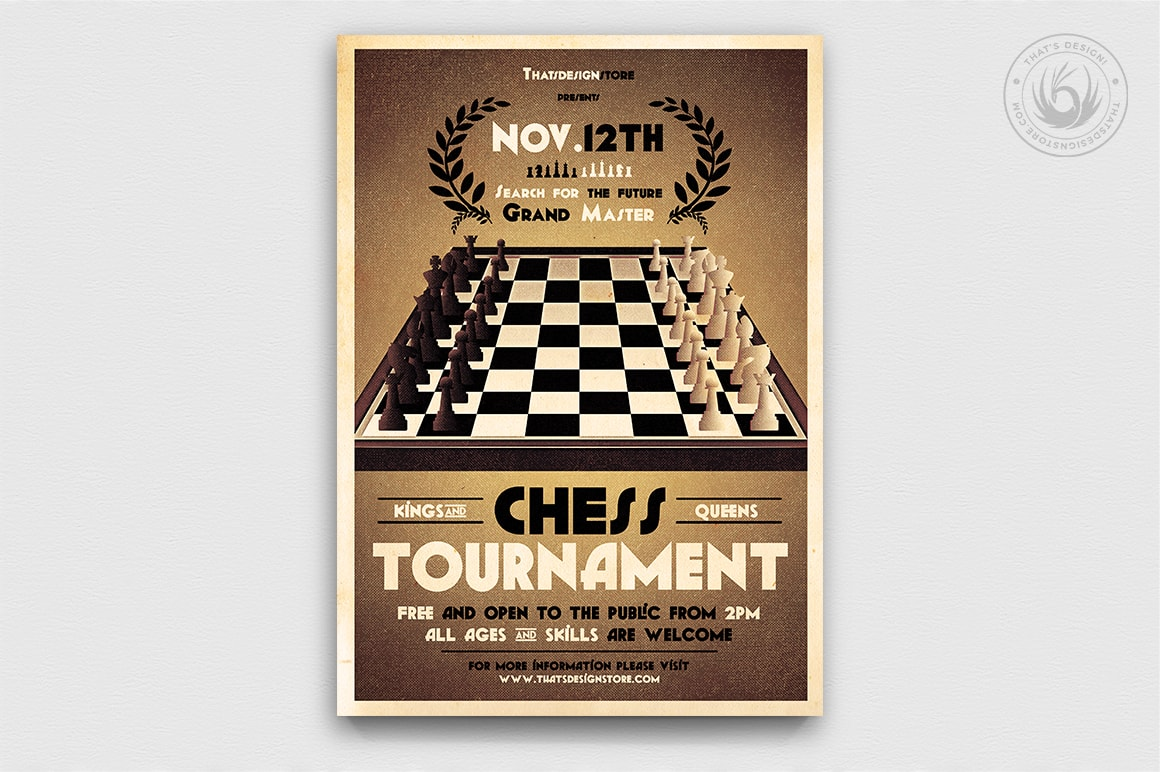 chess tournament flyer template thats design store