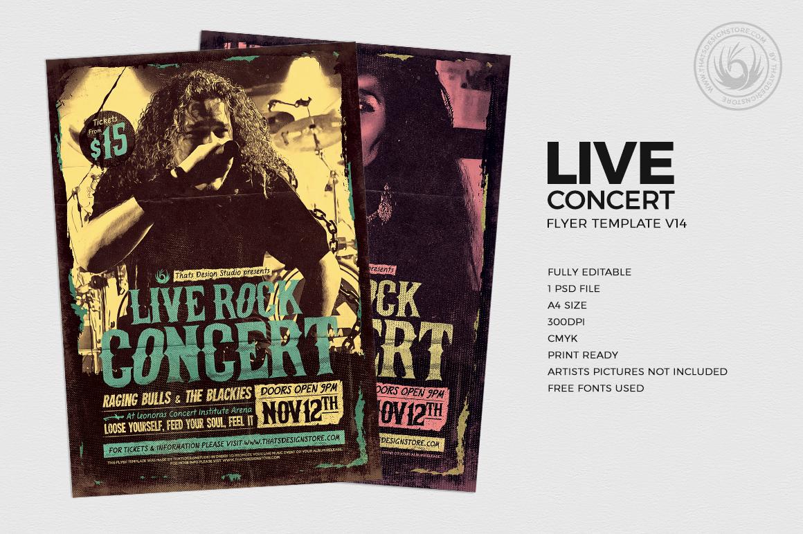 live concert flyer template v14 thats design store
