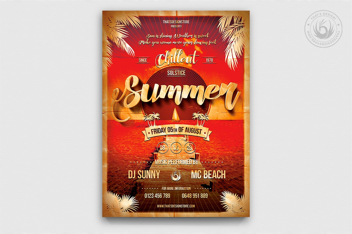 Summer Flyer Templates Beach Flyer Design Free Flyer Templates