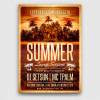 Summer Lounge Flyer Template V2 for any beach party,festival, club or cocktails bar event. Pool or garden party with Dj set mixing chillout, lounge music for a tropical sunset, summer camp holidays