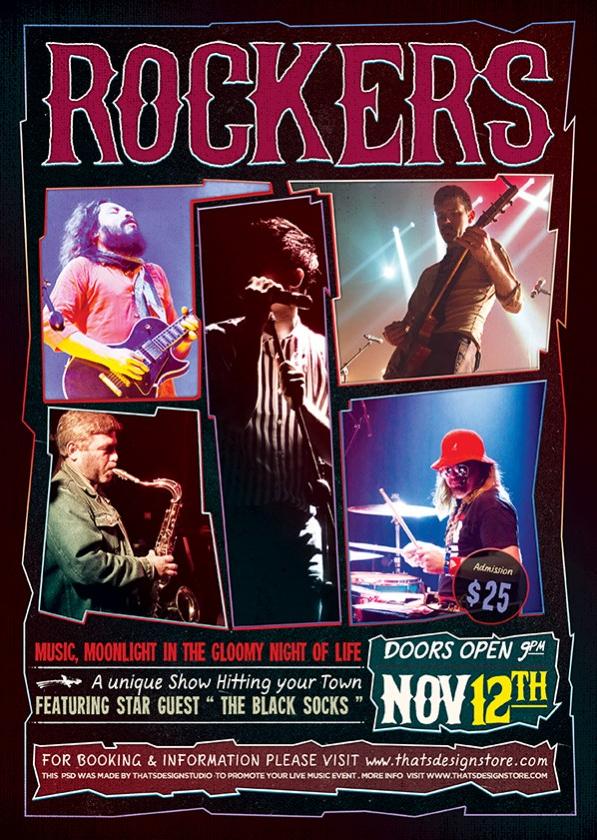 Rock Concert flyer free template
