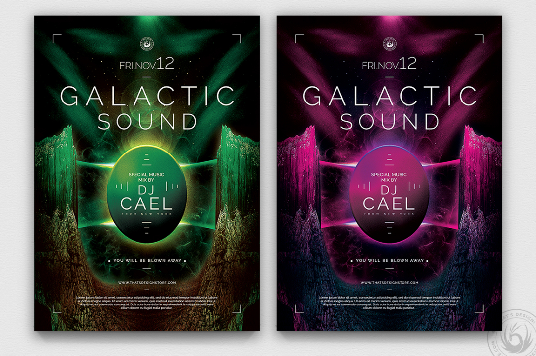 Galactic Sound Flyer Template PSD Download V2