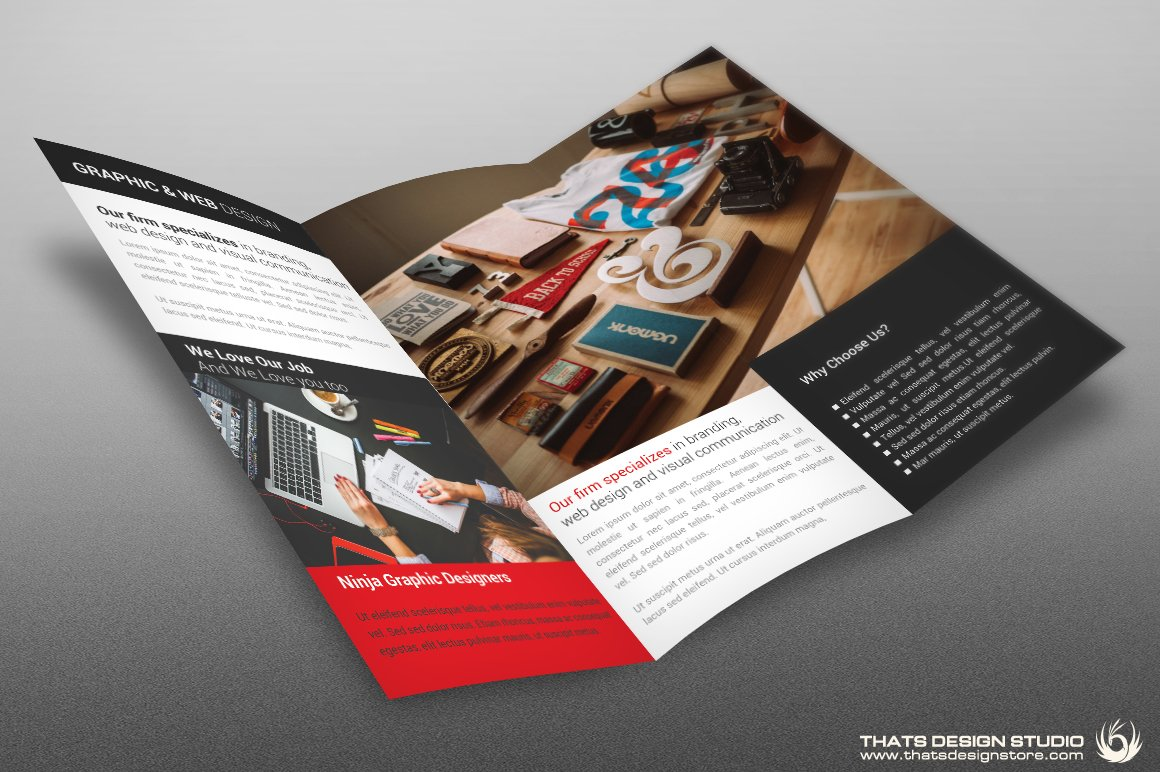 Trifold Creative Brochure Psd Template
