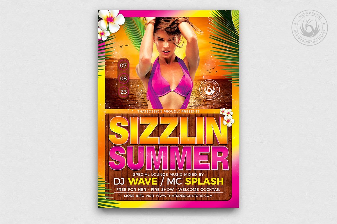 beach party flyer template v7 thats design store