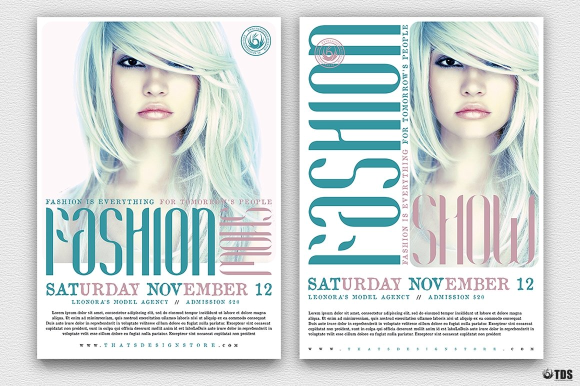Download Fashion Show Flyer Template PSD V2
