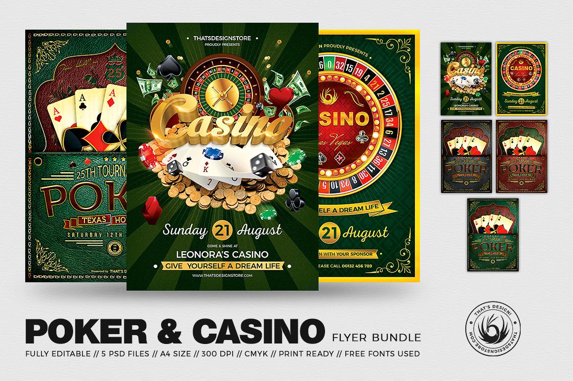 Poker - Casino Flyer Psd Templates Bundle
