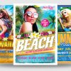 Beach Party Flyer Templates for Photoshop