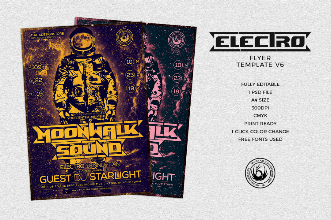 Electro Flyer Template V6