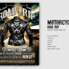 Motorcycle Road Trip Flyer Template