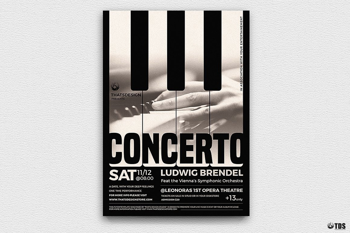 Piano Concerto Flyer Template