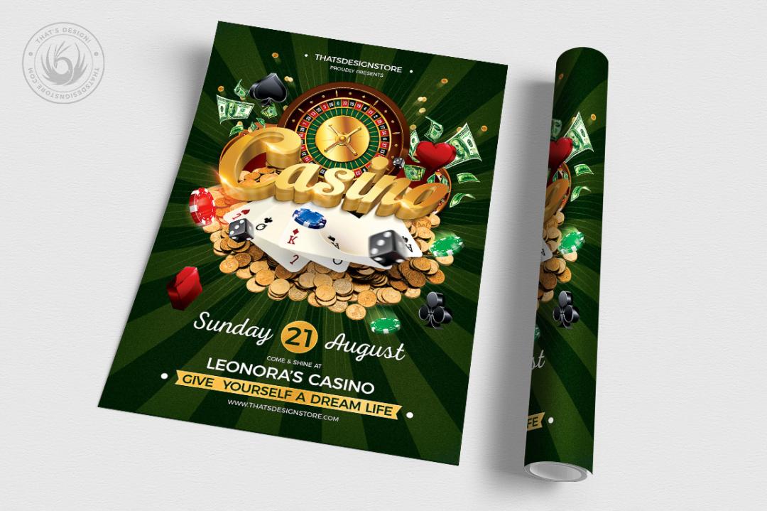 Vegas Casino Flyer Template psd fo photoshop