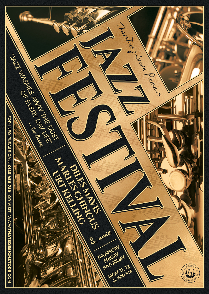 Jazz Festival Flyer Template Psd download