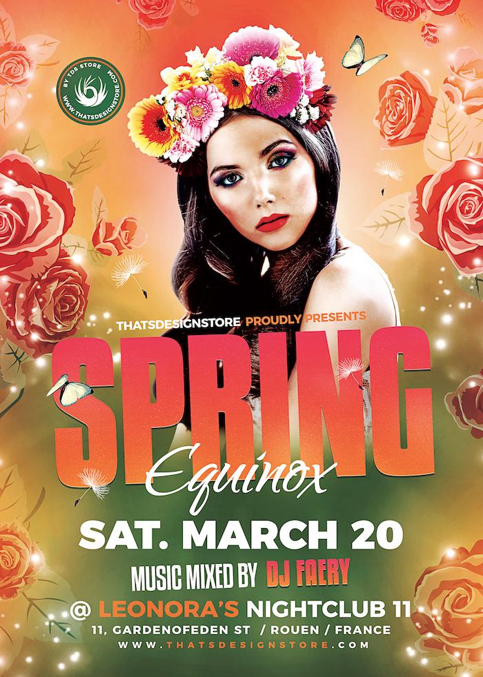 Spring Equinox Flyer Template V3