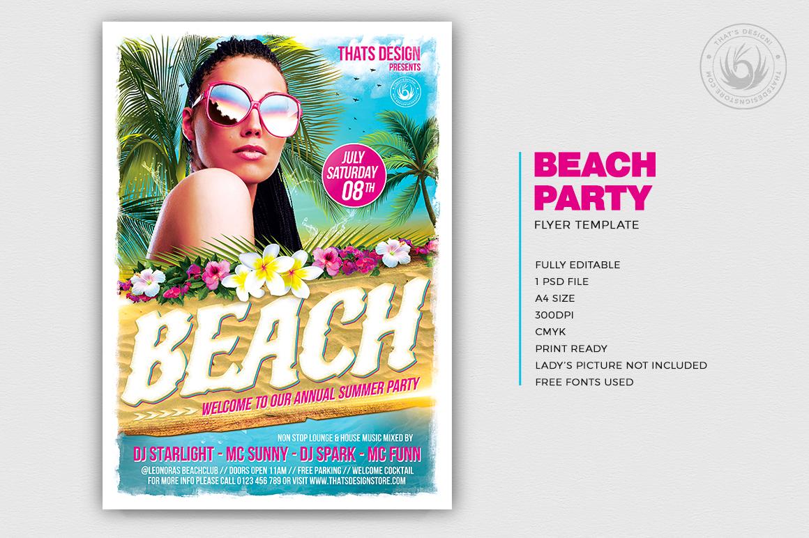 Beach Flyers Template Design Psd V4 For Photoshop