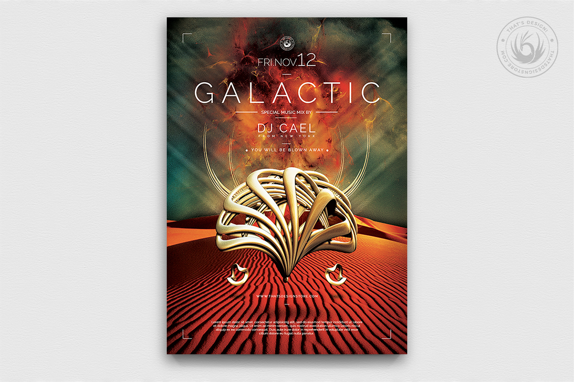 Galactic Sound Flyer Template PSD Download
