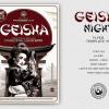 Geisha Party Flyer Template V5, Japan Psd flyers