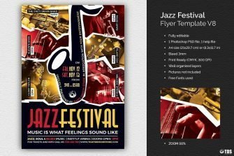 Jazz Festival Flyer Template V8