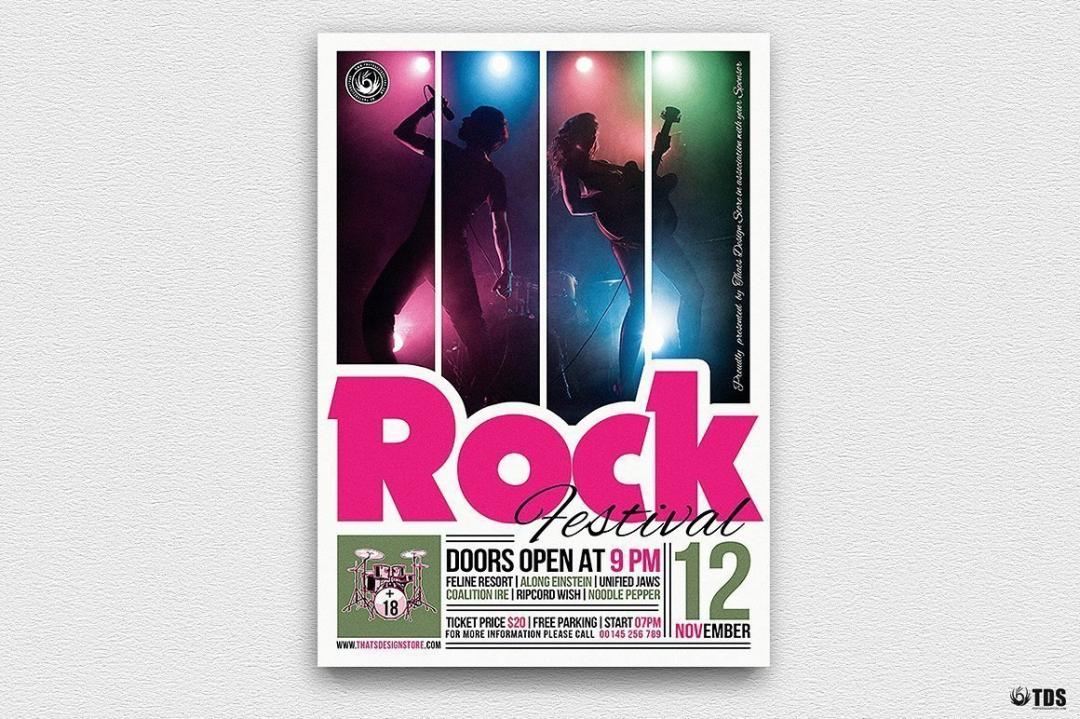 Rock Festival Flyer Template V6