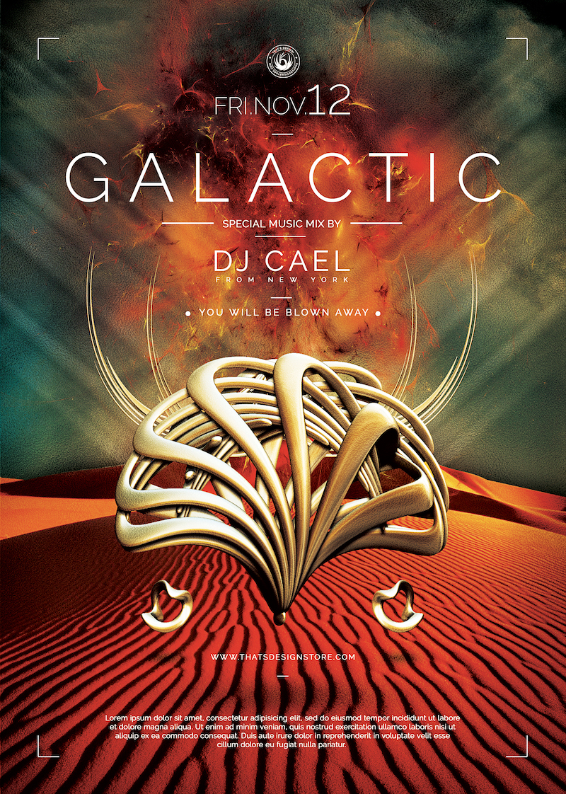Galactic Sound Flyer Template PSDDownload