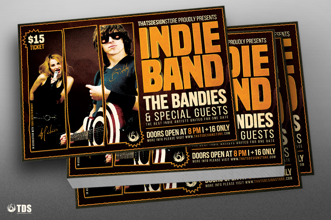 indie band flyer template thats design store