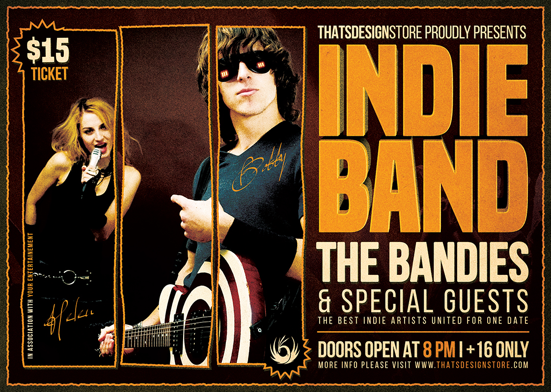 Indie Band Flyer Template PSD