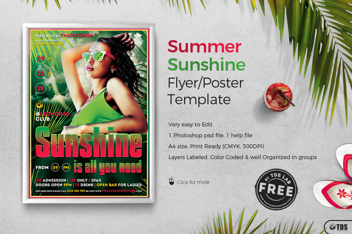 gallery summer flyer template free cocktail party psd by